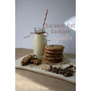 Caramel Oat Cookies