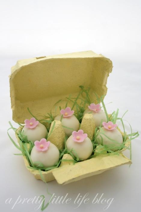 Easter coconut truffles