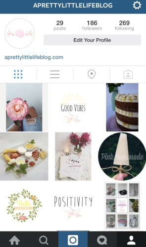 A Pretty Little Life Blog Instagram